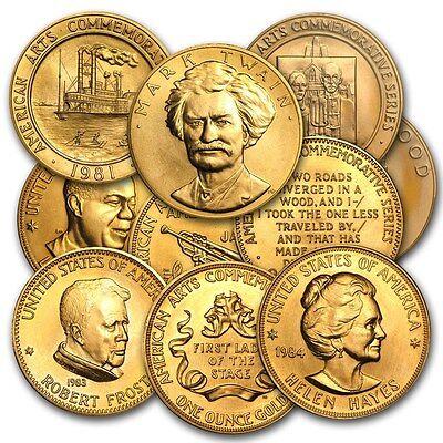 1 oz Gold U.S. Mint Commemorative Arts Medal - Random Year Design - SKU #8894