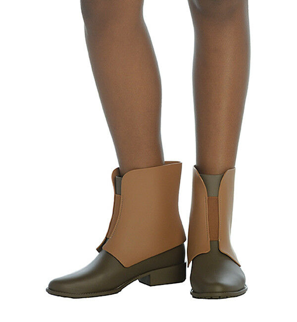 Melissa Necklace Rain Boot in Tan and Taupe Size 5