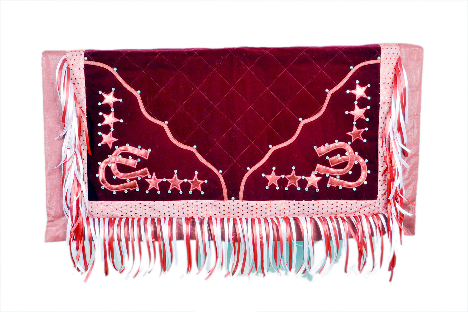 Western  Barrel Racer Rodeo Show Saddle Pad   Maroon  buy cheap