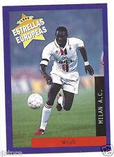 Rare '96 Panini Liberia's EUROPEAN SUPER STAR George Weah with AC Milan