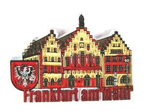 Frankfurt-Roemer-Germany-Souvenir-Magnet-Rubber-Kautschuk-flexibel-Neu