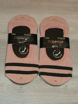 New 5 Pair Steve Madden Women No-Show Liners//Footies Size 5-10 Free Shipping