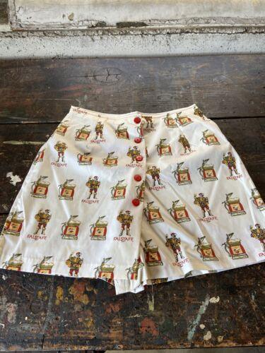 Vintage 1970's Womens Falstaff Beer Shorts NOS 60's Deadstock Advertising Sz 18