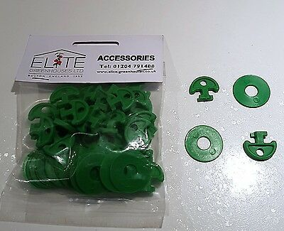 30 Elite Greenhouse Plastic Lining Hooks attach bubble or net Cropped Heads