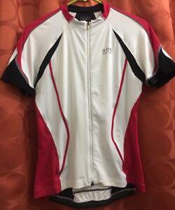 Women s 40 L XL GORE BIKE WEAR OXYGEN Red White Black CYCLING JERSEY ... 0e76c2289