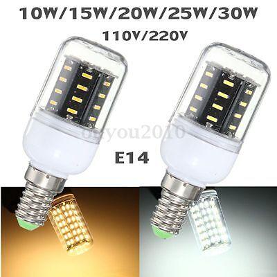 B22 E12 E14 E27 G9 GU10 10/15/20/25/30W LED 4014 SMD Cover Corn Light Lamp Bulb