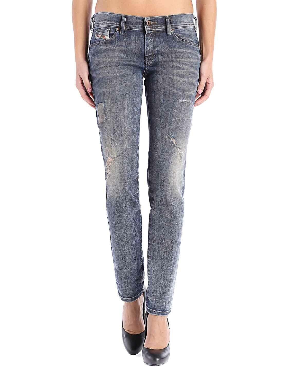 Diesel Francy 0662I Stretch Damen Jeans Hose Relaxed Skinny