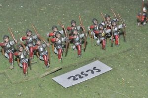 25mm/inglese medievale-longbowmen 12 Fichi INF-INF (22575)