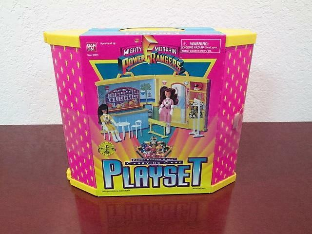 1995 MIGHTY MORPHIN POWER RANGERS GIRLS CARRYING CASE PLAYSET MAIL AWAY SEALED