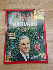 Time Magazine,President Derek Bok/Harvard 350 & Going Strong, September 8, 1986*