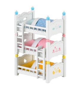 finest selection d6799 d8c46 Details about Sylvanian Families Calico Critters Triple Bunk Beds