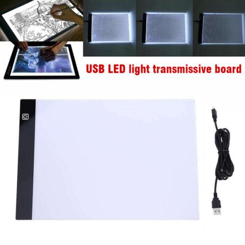 A4 LED Leuchttablett Lichttisch Leuchttisch Dimmbar Leuchtplatte Grafiktablett