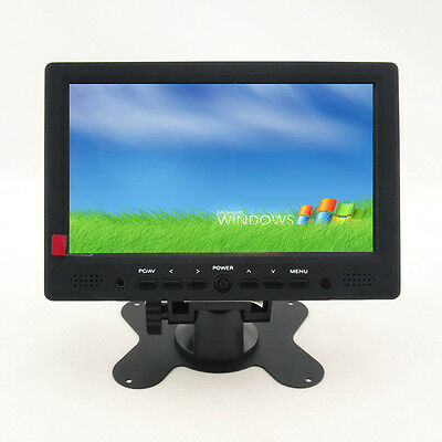 "7""  LCD Monito Touch Screen Display HDMI 1080p RCA AV VGA TFT For PC POS Car DVD"