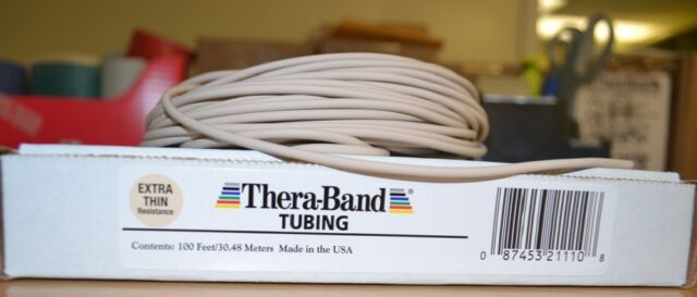 Thera-band Tan Tube By The Foot Theraband Resistance Band Yoga AUTHENTIC