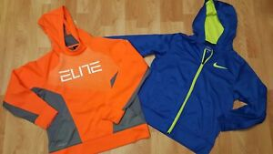 Details about Lot Of 2 Boy's Large Nike Therma Fit Orange & Blue Hoodie Sweatshirt GUC