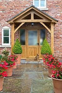 REDWOOD PORCH FRONT DOOR CANOPY HANDMADE IN SHROPSHIRE ...