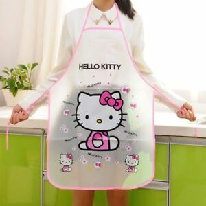 Details about 1 Pcs Women Kids Kitchen Cute Cartoon Waterproof Apron  Cooking Bib Aprons Vest*