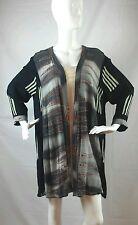 KUSNADI Batik Art to Wear Open Front Contrast Fabrics Rayon Jacket / Top