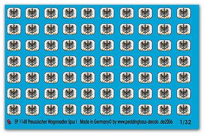 Epoche späte Ausführung gold Dru Peddinghaus  1//32 1763 Reichsbahnwaggonadler 2