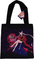 Sailor Moon Black Lady Tote Bag Handbag W/ Tag Official Licensed