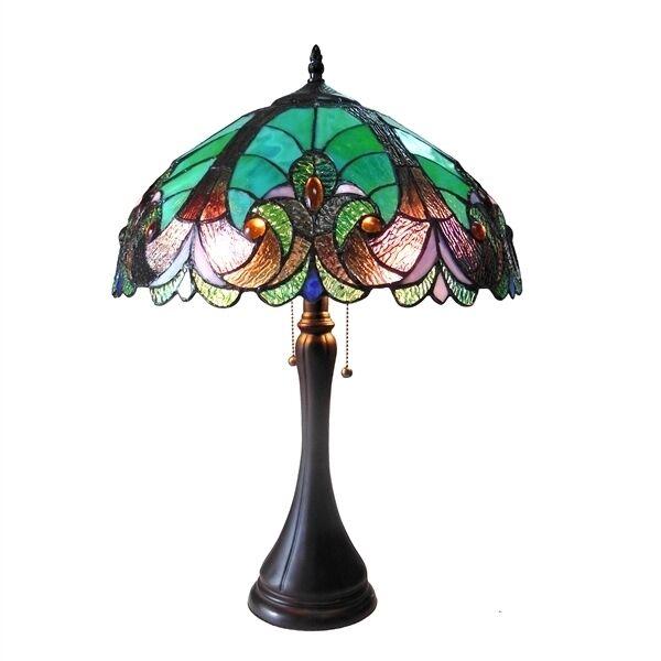 Chloe Lighting Tiffany Style 2 Light Table Lamp Ch16780vg16 Tl
