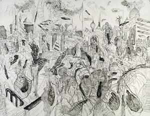 DDR-Kunst-festliche-Stadt-1982-Rad-Andreas-DRESS-1943-2019-D-handsigniert