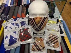 Unisex-Reusable-Washable-Breathable-Face-Masks-Filter-Mask-Scottish-Tartans