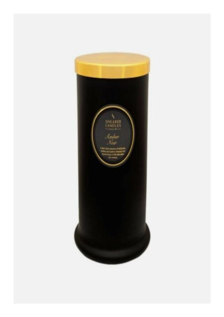 Black Shearer Candles Amber Noir Scented Jar Candle With Gold Lid