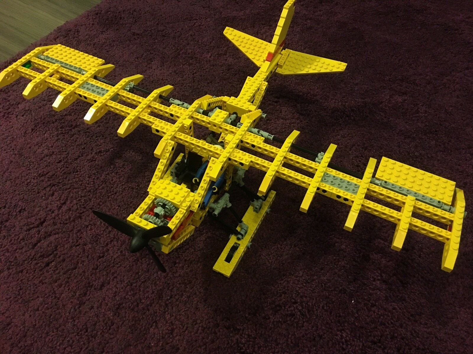 Vintage Lego Technic 8855 Prop Plane - 100% Complete With Box And Instructions