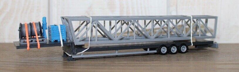 Remorque transport mats cirque knie livré avec mats 1 87 HO H0