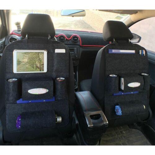 Black Auto Storage Bag Car Seat Back Multi-Pocket Organizer Holder Accessories