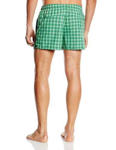 Da Uomo Adidas Nuotare Spiaggia Nuotare Nuoto Pantaloncini Da Spiaggia Vacanze Estive CHECK Verde