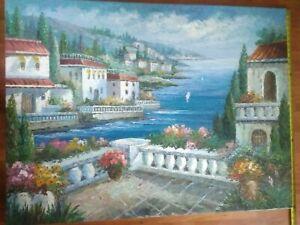 "Antonio original oil painting on canvas signed 48"" x 36"""