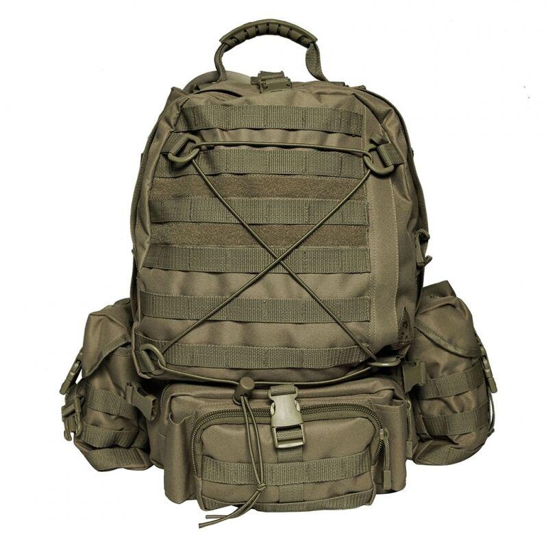 Rucksack 45l Cougar. Grün Armee Militär Armee Wandern