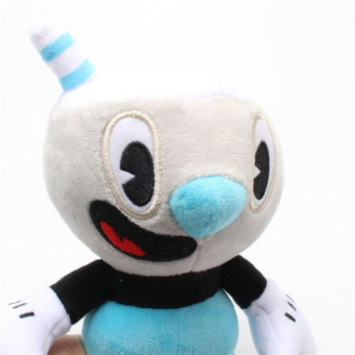 10 Inch Cuphead Game Plush Toy Cuphead /& Mugman Mecup And Brocup Figure Doll Set