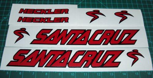 Santa Cruz Nomad Heckler Bullit Superlight Bike Decals Sticker Set of 6 MTB DH