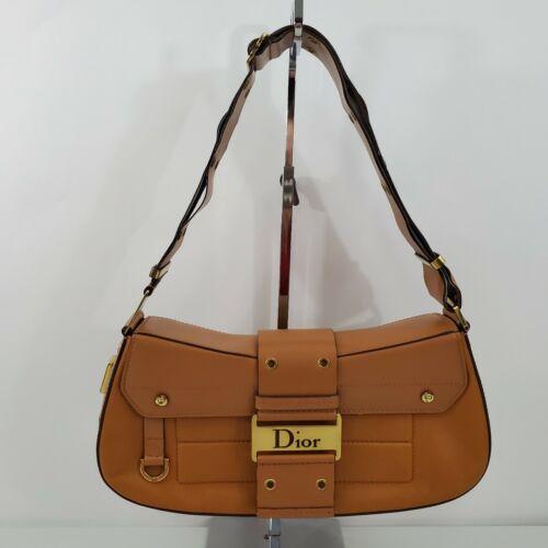 Dior Street Chic Shoulder Bag Leather Columbus Gol
