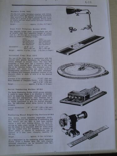Deckel G1U G1L Pantograph Instruction /& PARTS Manual E MAILED MACHINE DUPLICATOR