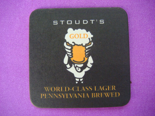STOUDTS Brewing Co World Class Lager ~ Adamstown BEER Bar COASTER PENNSYLVANIA