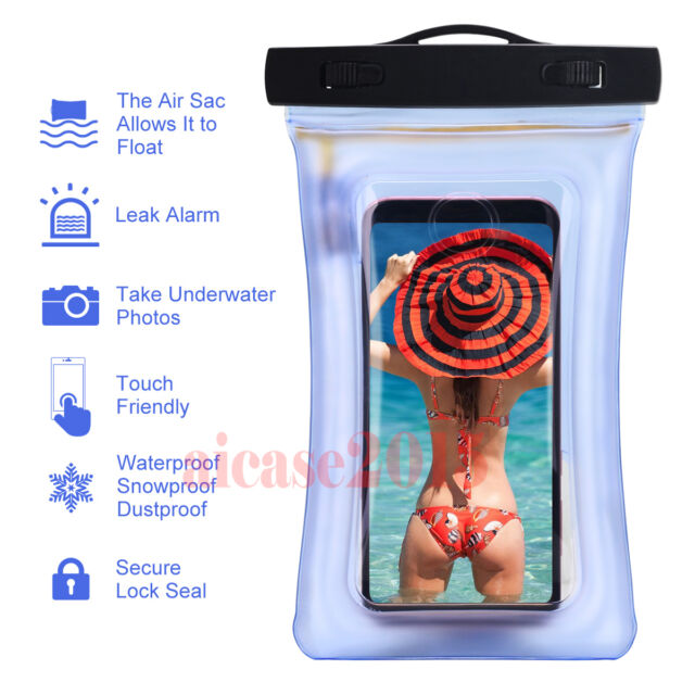 Waterproof Underwater Float Pouch Bag Case Cell Phone iPhone 7 6s 8 Plus Note 8