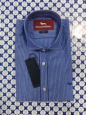 Abiti Eleganti Harmont Blaine.Camicia Harmont Blaine Uomo Botton Down Nf Azzurro Bianco