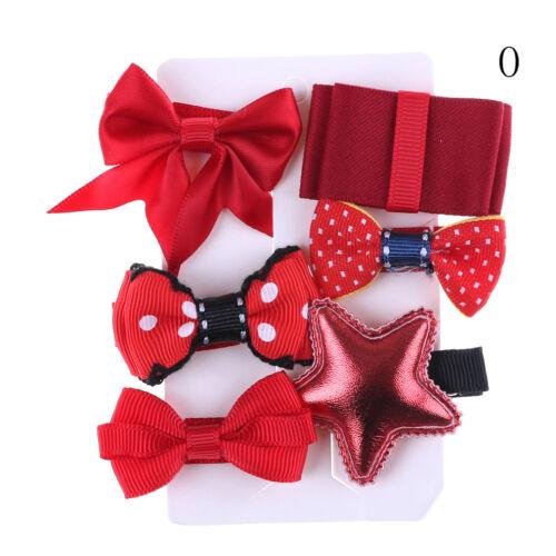 1 set Hairpin Baby Girl Hair Clip Bow Flower Mini Barrettes Star Kids Infant MW