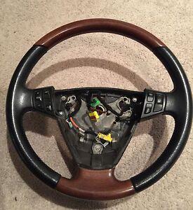 Saab-9-3-Steering-Wheel-Wood-amp-Leather-2003-05