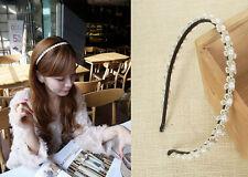 1PC moda donna pizzo fiore fascia testa pezzo ragazza per capelli oreficeria