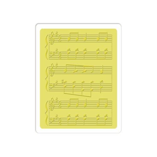 Sizzix Embossing Folder ~ SHEET MUSIC #3 ~ 660424 Jillibean Soup