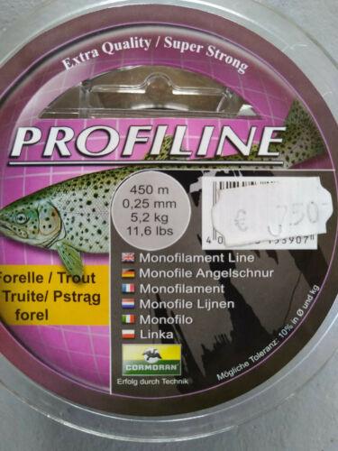 Cormoran Angelschnur Profiline Forelle 450m 0,25er