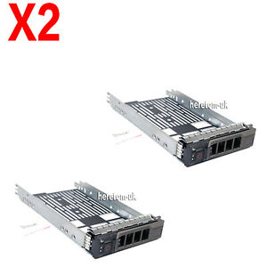 """2X 3.5/"""" Hard Drive Caddy SAS Tray for DELL Poweredge T320 T710 F238F R710 T610"""