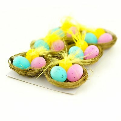 Multi Easter Nest of Speckled Eggs - Suitable for Easter Bonnets Decorating