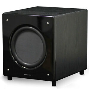 """Pure Acoustics SN-10 SUB 10"""" 150W Active Subwoofer Speaker for Home Theatre BLK"""