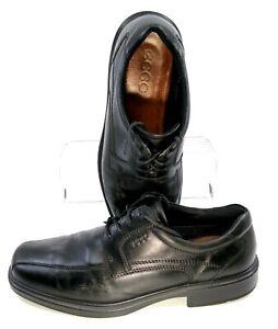 ECCO-Helsinki-Oxford-Mens-EUR-45-US-11-11-5-Black-Bicycle-Toe-Lace-Up-Dress-Shoe